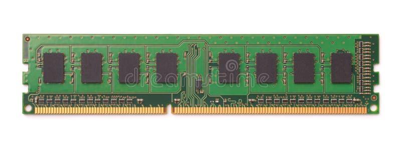 Vista superior del módulo de la RAM del ordenador imagen de archivo libre de regalías