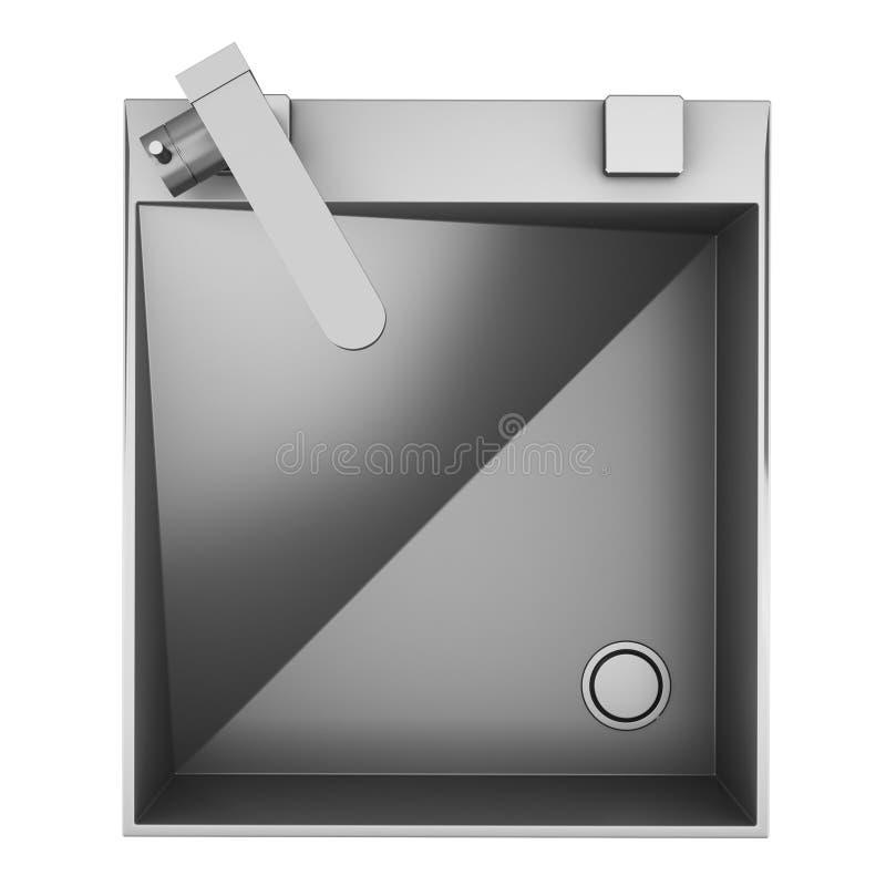 Vista superior do dissipador moderno do metal isolado no branco ilustração royalty free