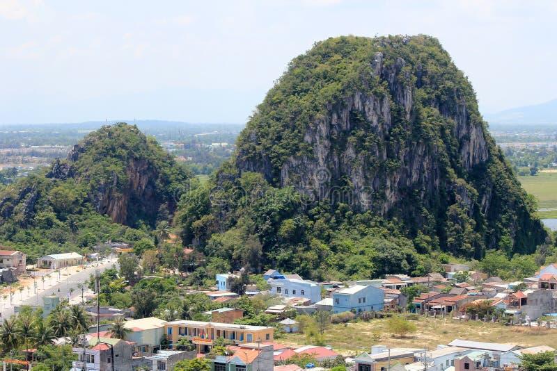 Vista superior do distrito do Da Nang em Vietname foto de stock