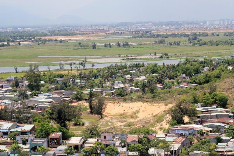 Vista superior do distrito do Da Nang em Vietname imagens de stock royalty free