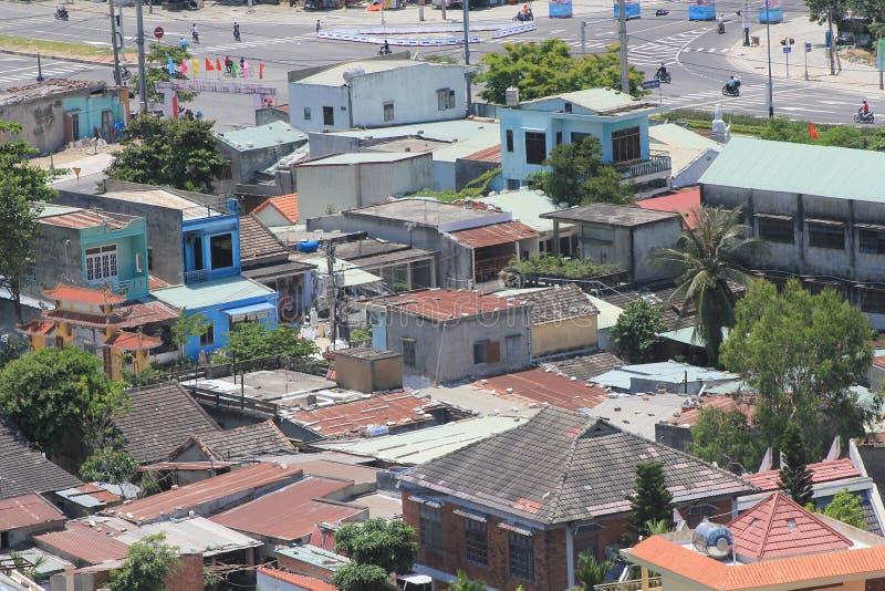 Vista superior do distrito do Da Nang em Vietname imagens de stock
