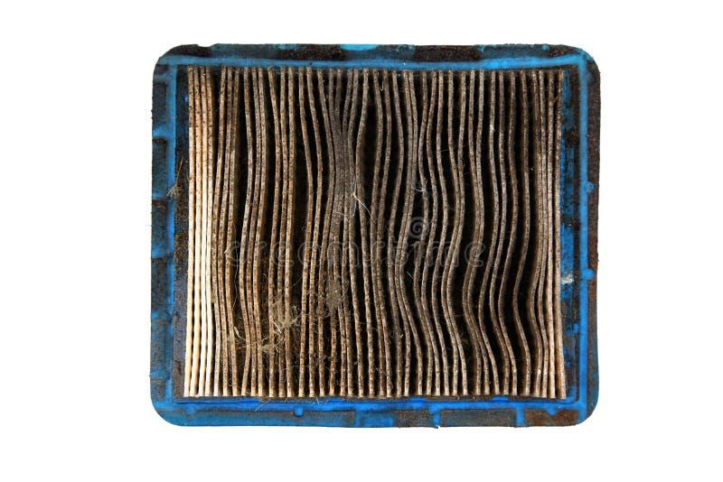 Vista superior do filtro de ar sujo imagens de stock