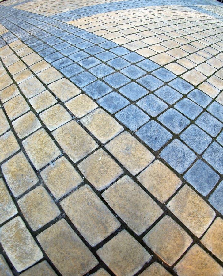 Vista superior do pavimento de pedras retangulares imagem de stock