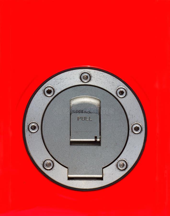 Vista superior do tampão do combustível da motocicleta foto de stock royalty free
