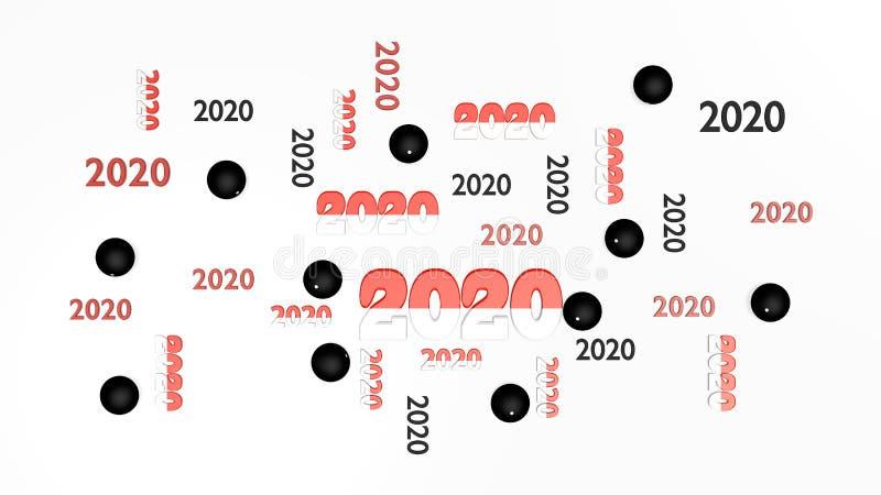 Vista superior dos diversos Pelote Pala 2020 projetos com algumas bolas ilustração royalty free