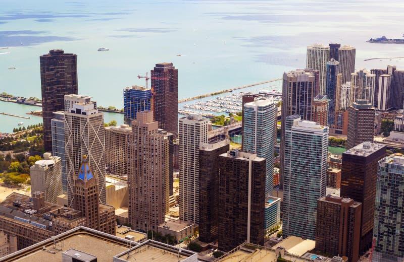 Vista superior em Chicago fotografia de stock