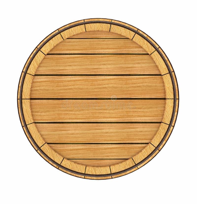 Vista superiore del barilotto di legno royalty illustrazione gratis