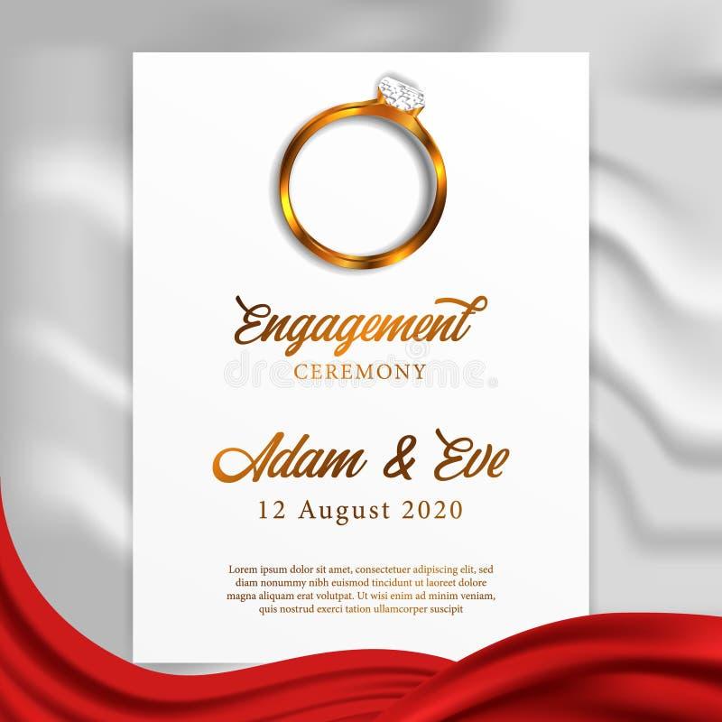 Vista superiore del diamante del gioiello di nozze di impegno dell'anello con la coperta e la carta bianche di struttura fotografia stock libera da diritti