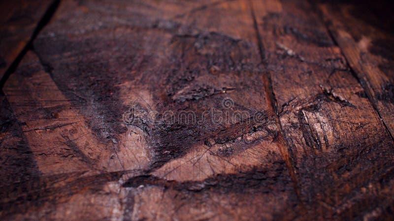 Vista superiore del fondo di legno rustico della tavola Metraggio di riserva Fondo noir del bordo di legno del nero di eleganza S fotografia stock
