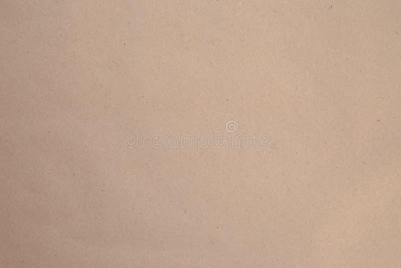 Vista superiore del fondo strutturato di carta kraft di Brown immagine stock libera da diritti