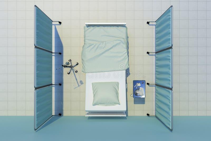 Vista superiore del letto di ospedale royalty illustrazione gratis