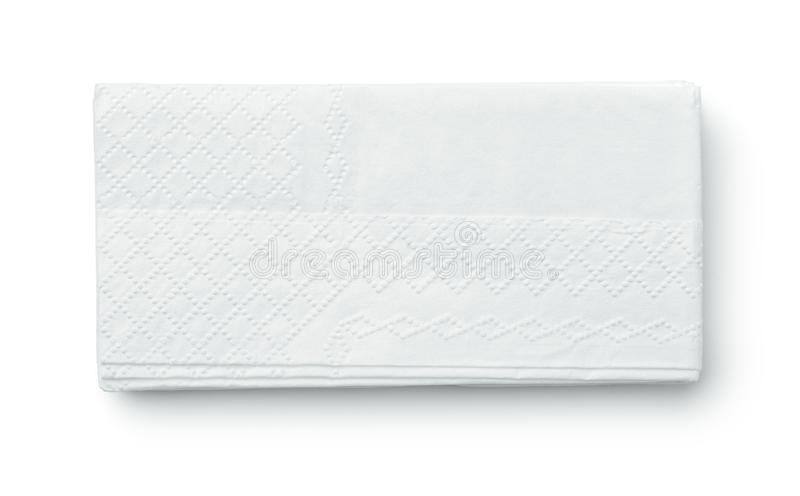 Vista superiore del pape piegato del tessuto fotografie stock libere da diritti