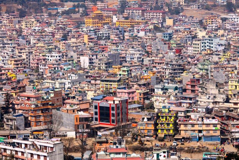Vista superiore del Pokhara immagini stock libere da diritti
