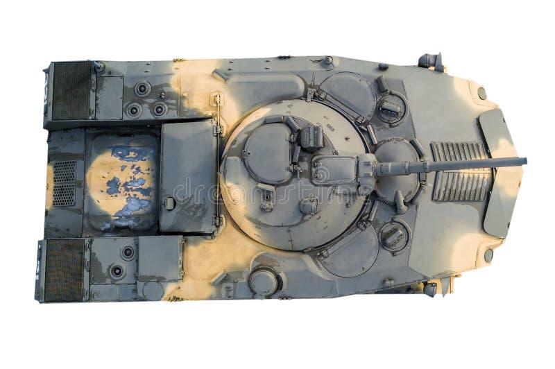 Vista superiore del veicolo da combattimento della fanteria su fondo isolato bianco tank immagine stock libera da diritti