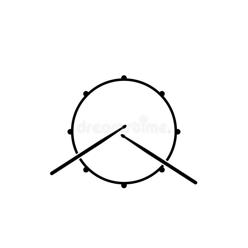 Vista superiore dell'icona del tamburo royalty illustrazione gratis