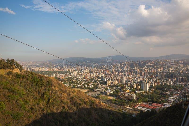 Vista superiore della città di Caracas fotografia stock