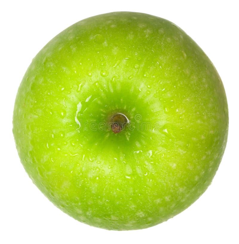 Vista superiore della mela verde fotografia stock libera da diritti