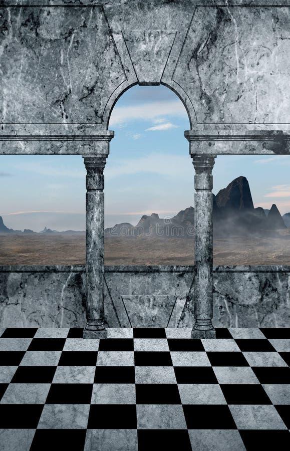 Vista superiore della montagna illustrazione vettoriale