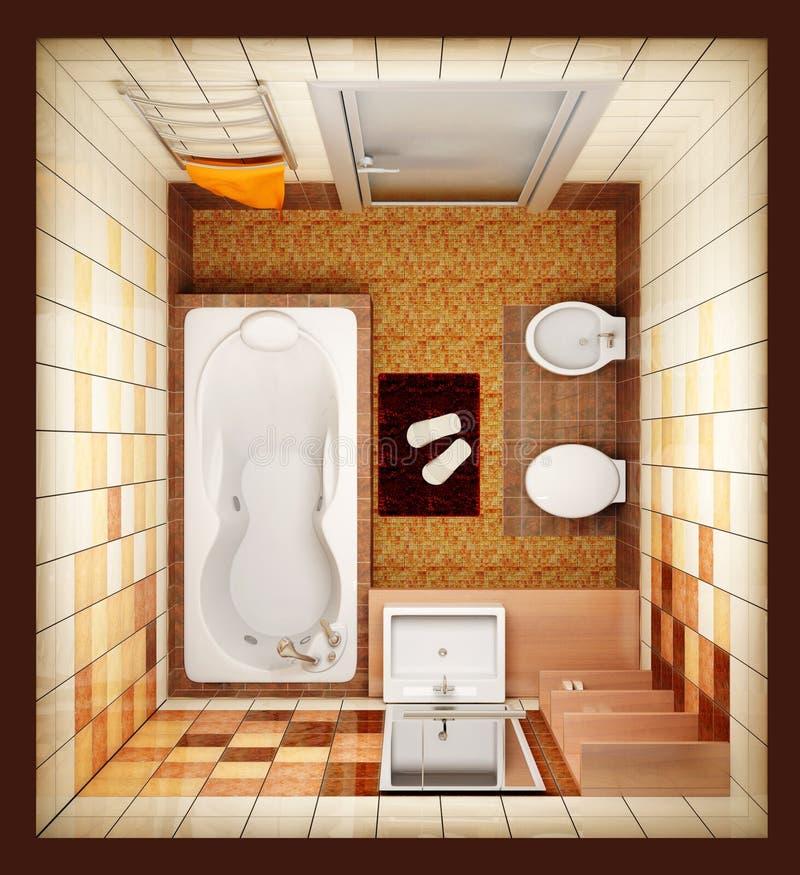 Vista superiore della stanza da bagno fotografia stock
