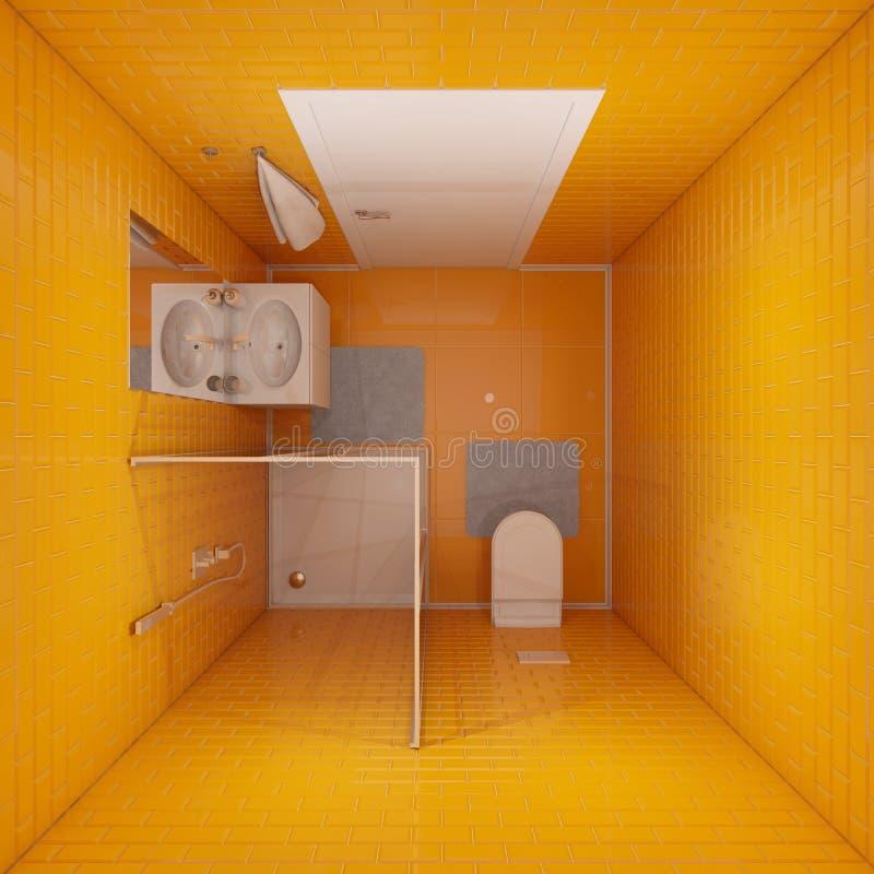 Vista superiore della stanza da bagno illustrazione vettoriale