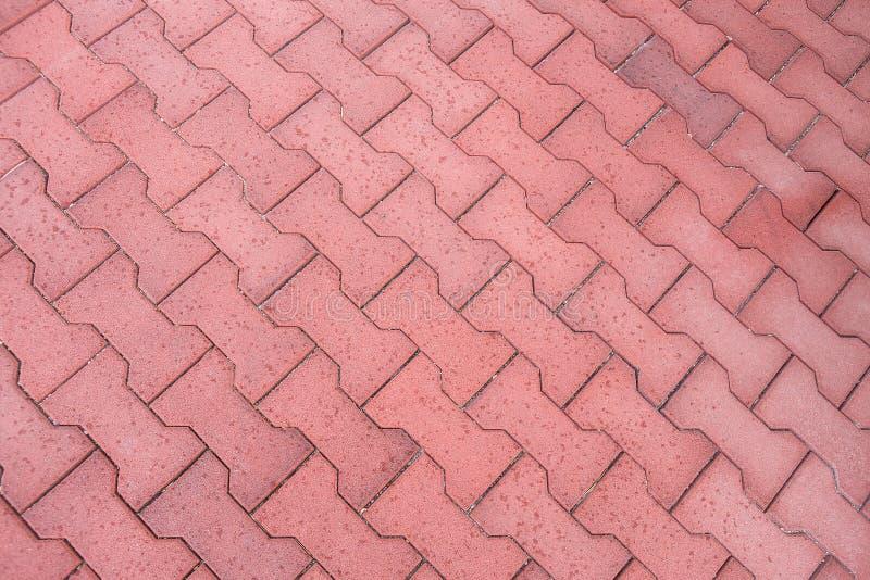 Vista superiore delle mattonelle del marciapiede fotografia stock