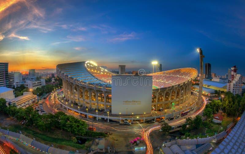 Vista superiore dello stadio di Rajamangala fotografie stock
