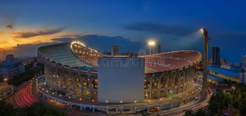 Vista superiore dello stadio di Rajamangala immagine stock