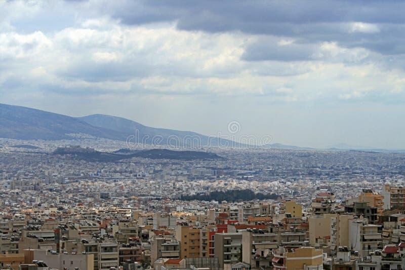 Vista superiore di Atene fotografie stock libere da diritti