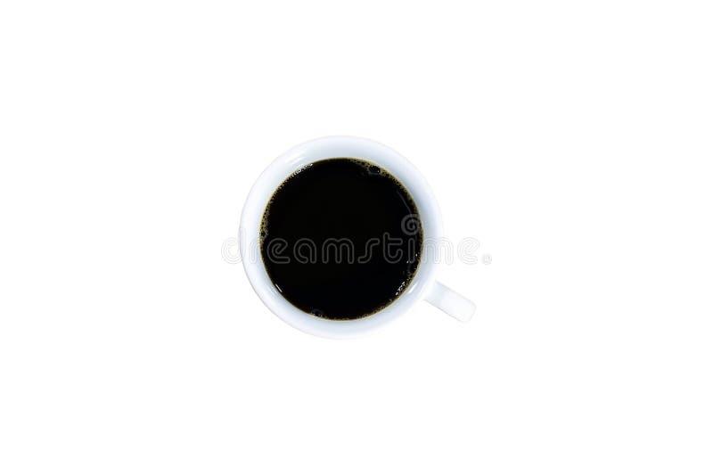 Vista superiore di caffè nero immagini stock