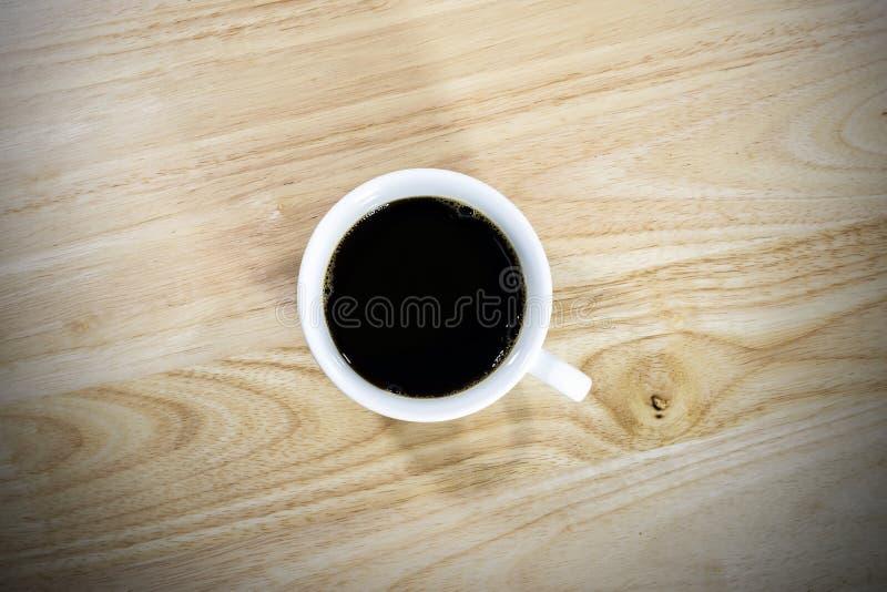 Vista superiore di caffè nero fotografia stock