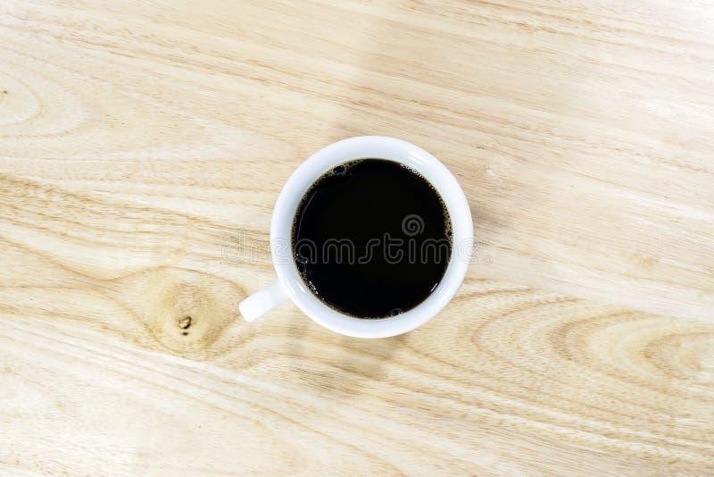 Vista superiore di caffè nero immagine stock