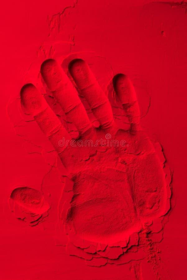 vista superiore di forma umana della mano fotografia stock