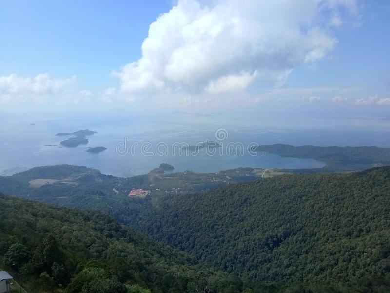 Vista superiore di Menara Kayangan immagine stock