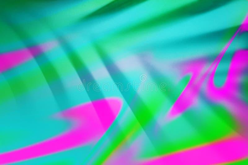 Vista superiore di ombra di foglia di palma tropicale verde nel fondo fluido variopinto al neon bitonale d'avanguardia fotografia stock libera da diritti