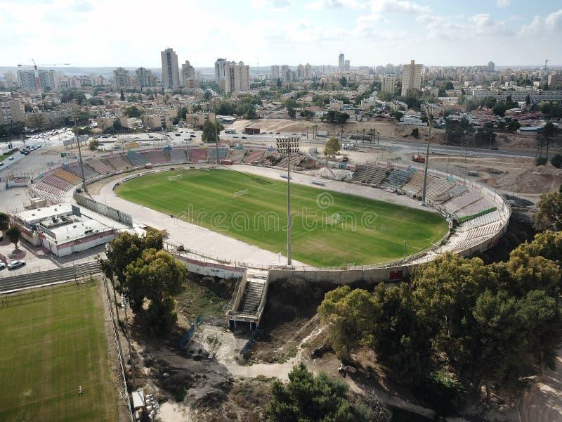 Vista superiore di vecchio stadio di football americano in birra Sheva immagine stock libera da diritti