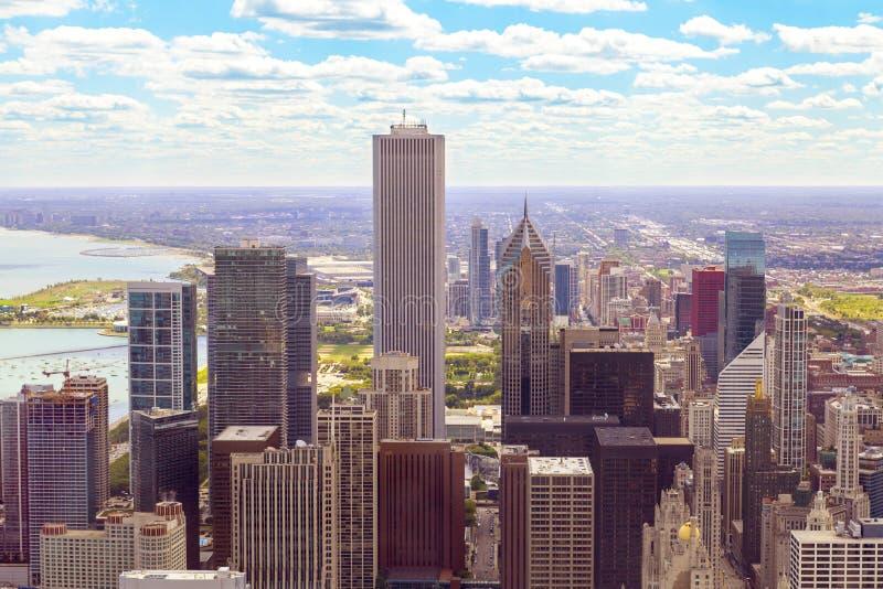 Vista superiore su Chicago fotografia stock libera da diritti