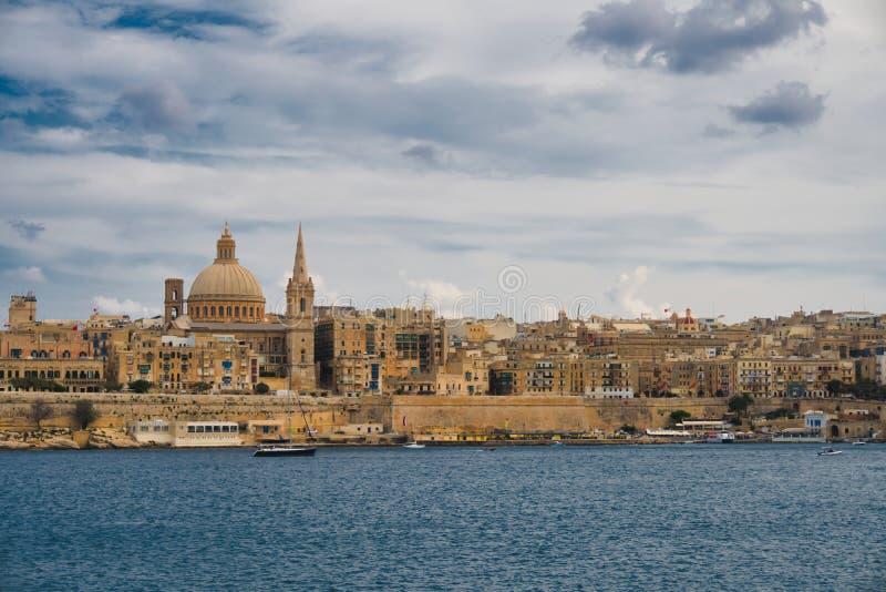 Vista surpreendente de Valletta foto de stock