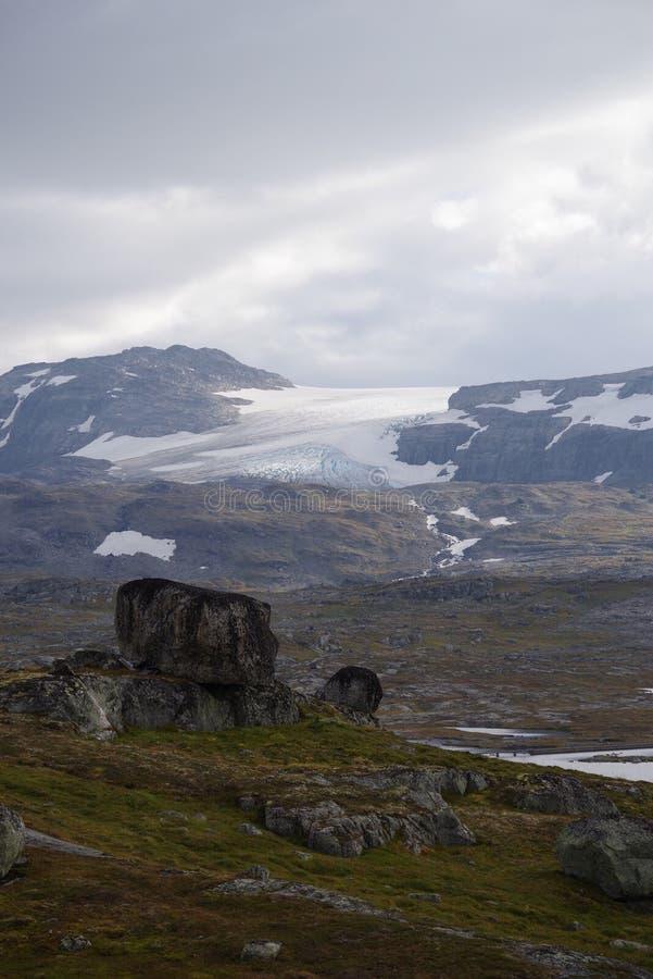 Vista a Svartisen imagen de archivo