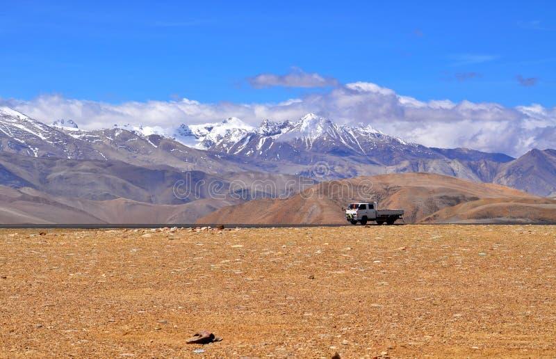 Vista tibetana dell'Himalaya immagine stock libera da diritti