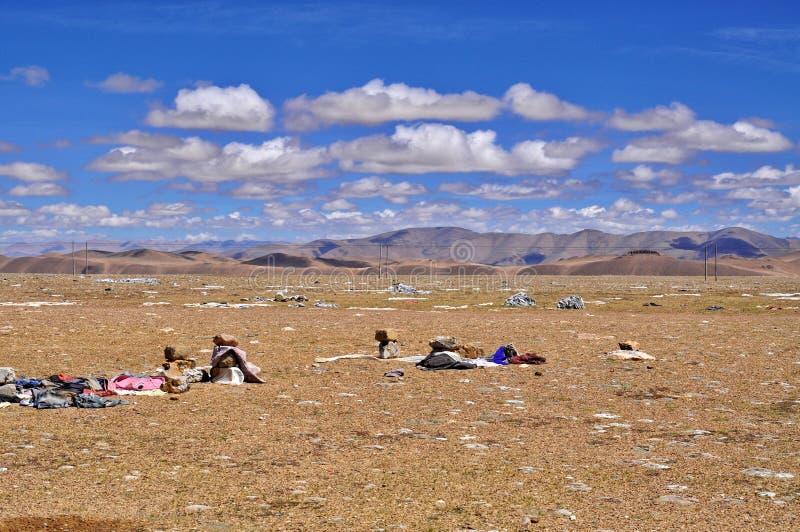 Vista tibetana dell'Himalaya immagine stock
