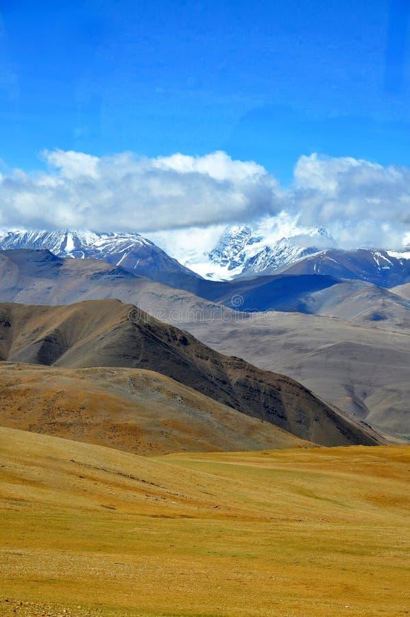 Vista tibetana dell'Himalaya fotografia stock