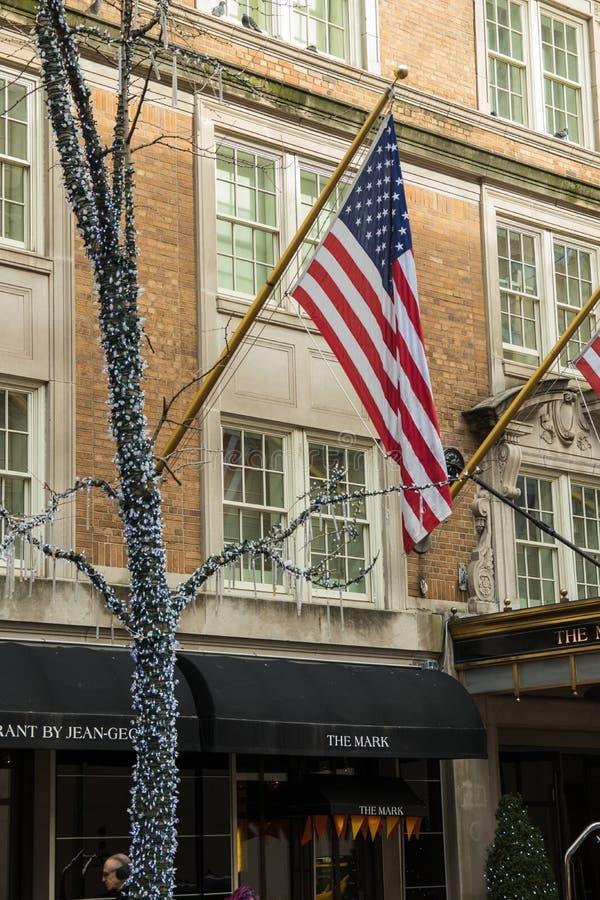 Vista tipica della via in Manhattan NEW YORK U.S.A. - 3 gennaio 2019 fotografia stock
