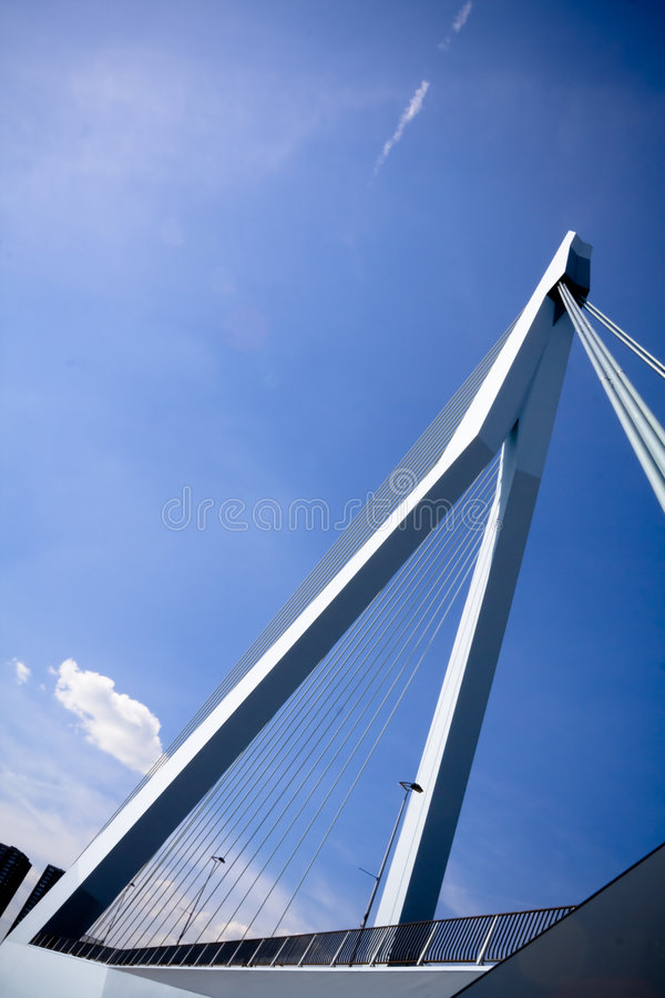 Vista traseira da ponte do Erasmus fotografia de stock