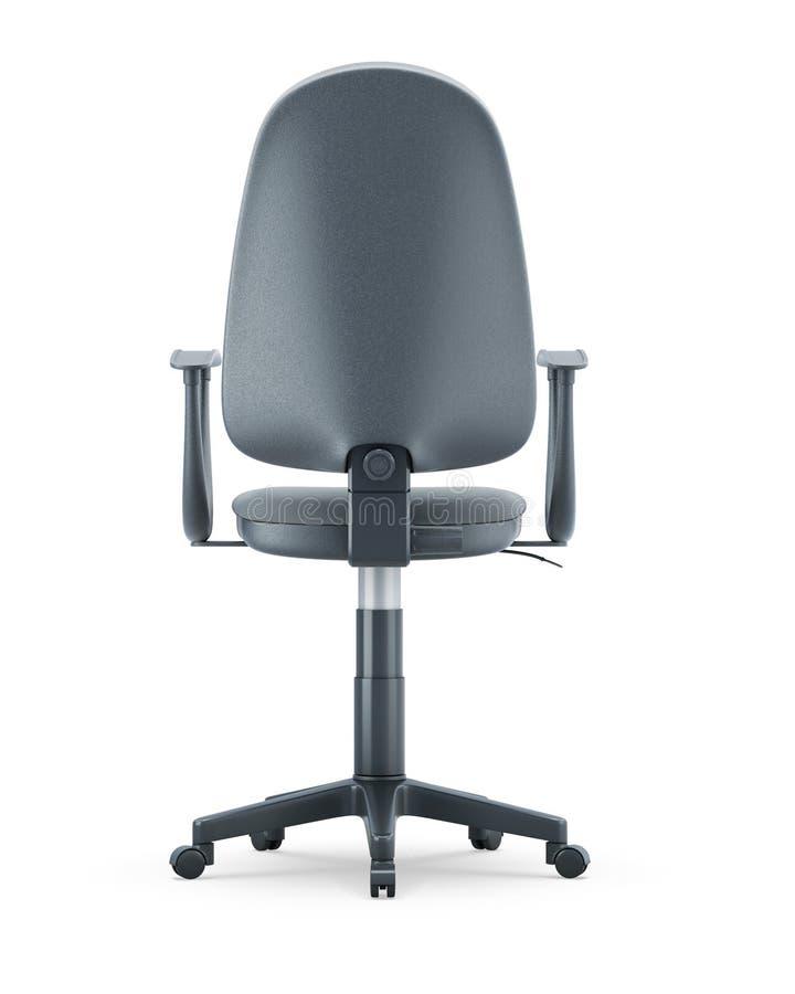 Vista trasera de la silla cómoda aislada en el fondo blanco libre illustration