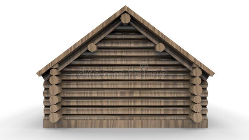 Vista trasera de una cabaña de madera libre illustration
