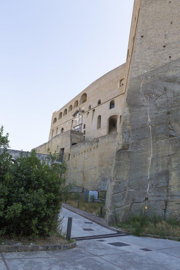 Vista trasera del castillo Sant 'Elmo imagen de archivo