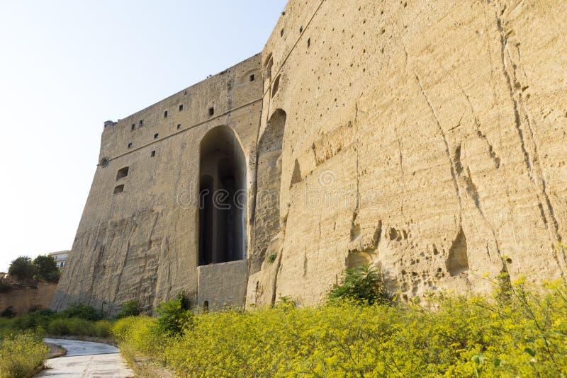Vista trasera del castillo Sant ?Elmo imagenes de archivo