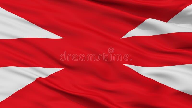 Vista turca del primo piano della bandiera di comando delle forze terrestri illustrazione di stock
