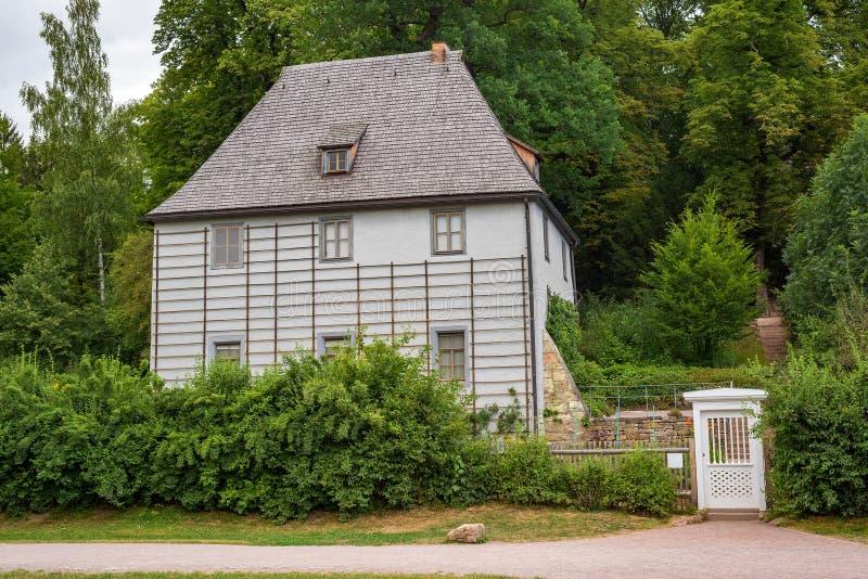 Vista Turingia Germania del parco del giardino della Camera di Weimar Goethe immagine stock libera da diritti