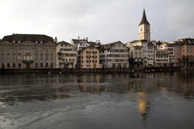 Vista turistica di Zurigo - 03 immagini stock